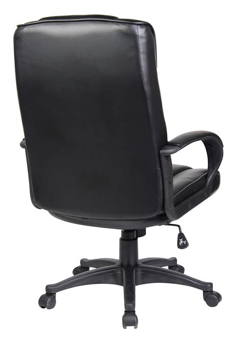 Office Chair Back black high back swivel executive pu leather computer