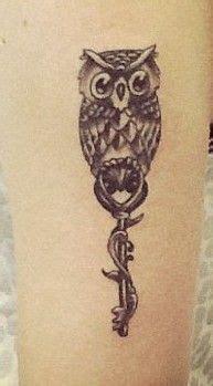tattoo owl key tattoos i like on pinterest by michelle corbaley key