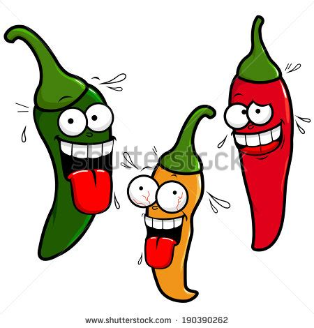 funny hot pepper images funny cartoon hot chili peppers stock vector