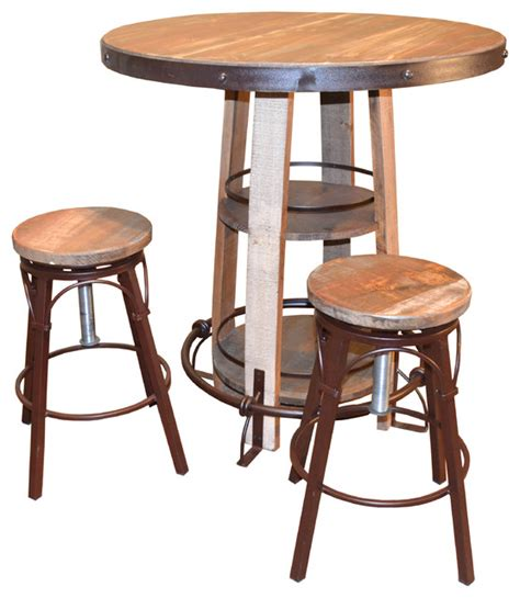 Pub Table And Chairs 3 Set by Bayshore Pub Table And Chairs 3 Set Farmhouse Indoor Pub And Bistro Sets By