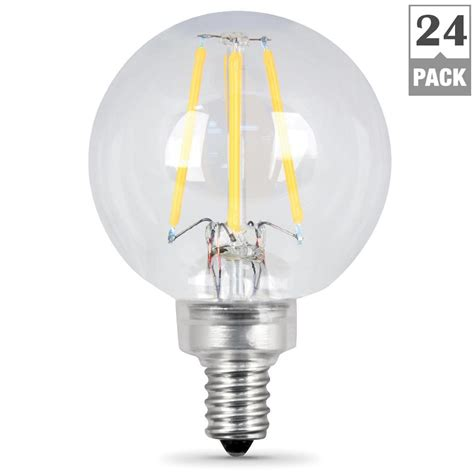 feit electric light bulbs feit electric 60w equivalent white g16 5 dimmable