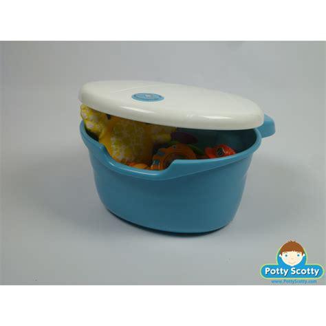 bathtub toy caddy blue tub toy organizer by potty scotty potty training