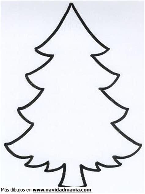 dibujo de silueta de arbol para colorear de navidad