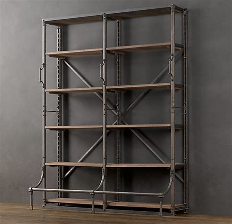 library bookcase wall unit restoration hardware restoration hardware bookcase for ladder roselawnlutheran