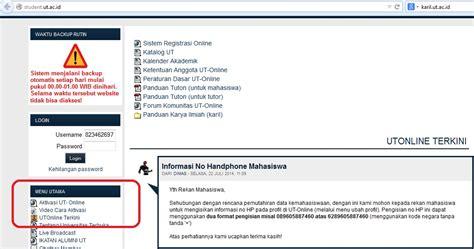 cara tutorial online universitas terbuka panduan tuton tutorial online universitas terbuka