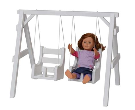 baby doll swing set baby doll playground swing set amish handmade toy swings