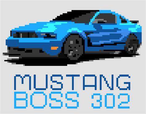 pixel art car streeture design mustang boss 302 pixel art