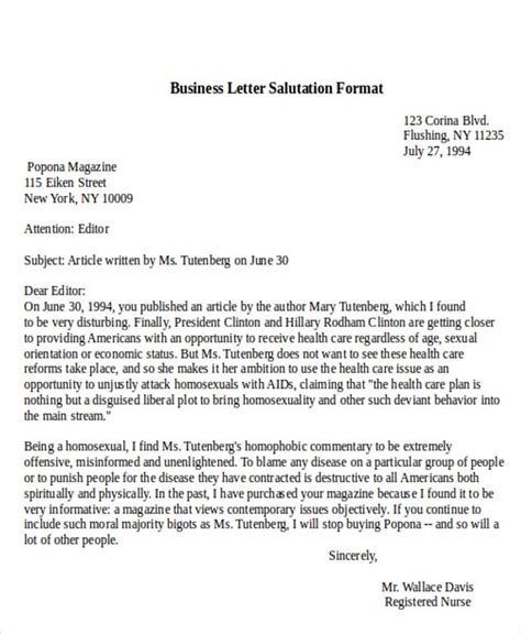 business letter salutation salutation in a business letter letters font
