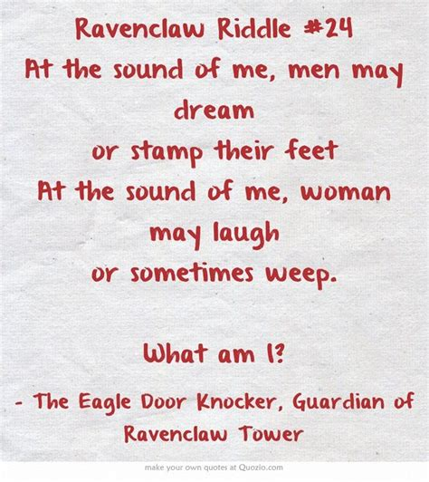 my had 7 puppies riddle ravenclaw riddle 24 comment if you think you the answer ravenclaw common room
