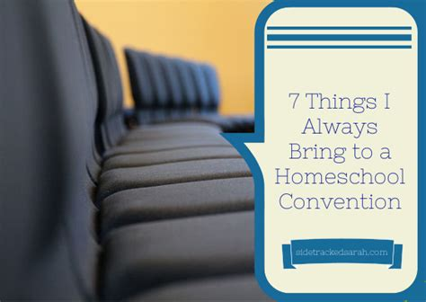 7 Things To Bring Cing by 7 Things I Always Bring To A Homeschool Convention