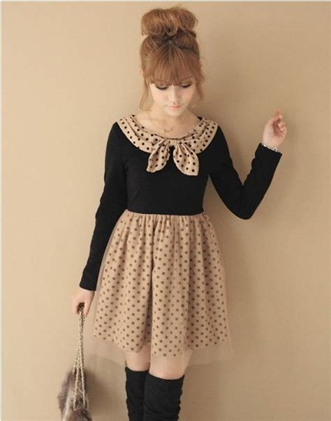 fashion japanese style sweet bow dress v7675 out of stock