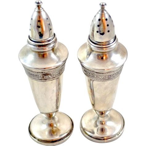 salt and pepper shakers fisher 465 sterling silver salt and pepper shakers from