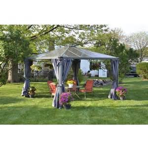 Privacy Curtains For Gazebo by Privacy Curtain For Palermo Gazebo Set Of 2 At
