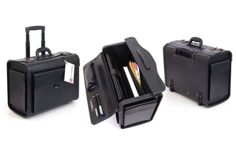 Office Max Alpine by Alpine Swiss Rolling 17 Quot Laptop Briefcase On Wheels Groupon