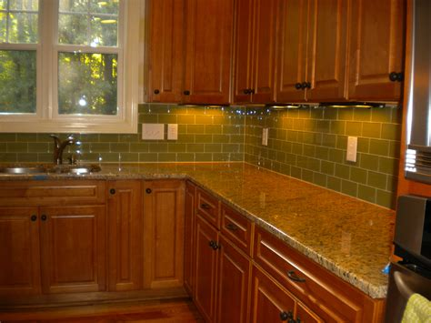 green glass tile backsplash ideas kitchen backsplash subway tile ideas in modern home interior decor and layout design