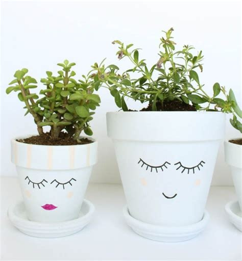 flower pots with faces on them pots with faces on them creative diy ideas to dress up