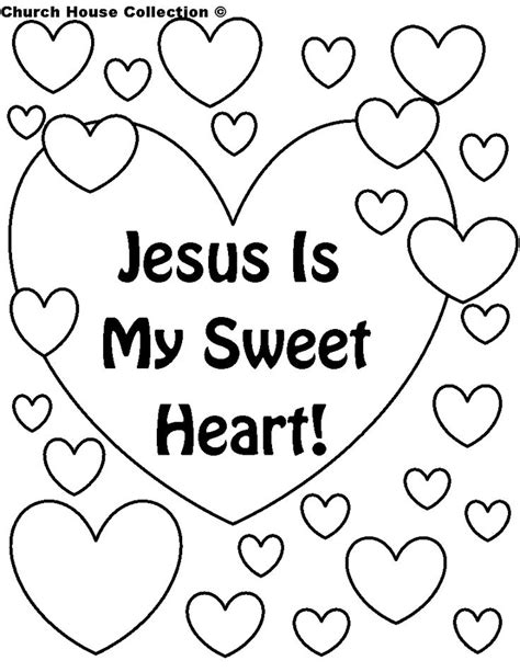 free christian valentine s day coloring pages church house collection blog jesus is my sweet heart