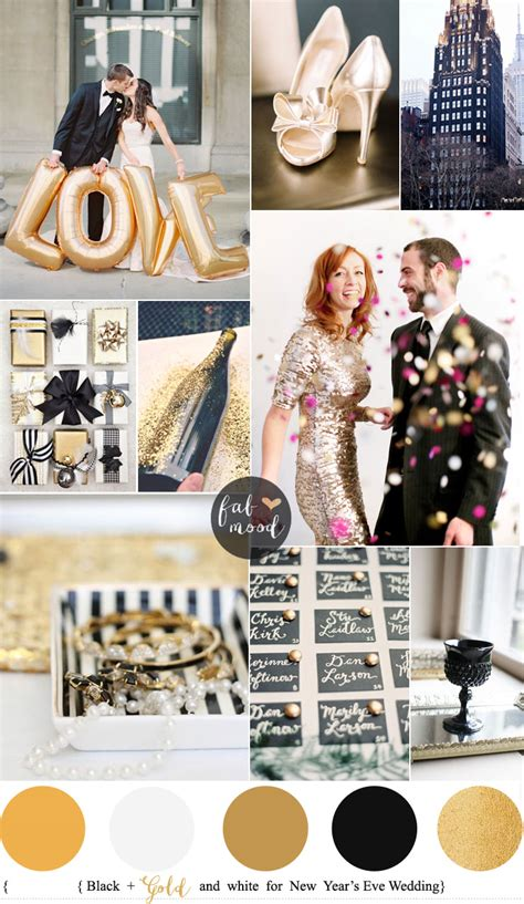 new year colors and gold new year s wedding colours black gold and white