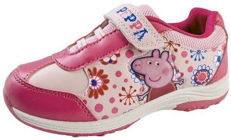 Led Shoes Glitter Pink peppa pig pink glitter trainers adjustable straps