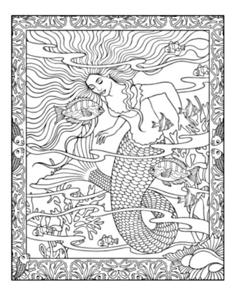 mermaid coloring book mythical mermaids coloring book only coloring pages