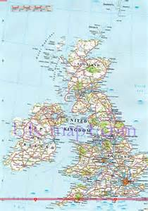 Detailed Map Of England by Road Map Of The Uk