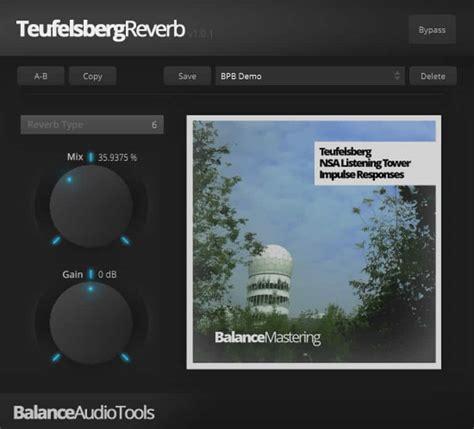 Bedroom Producers Reverb Balance Mastering Releases Free Teufelsberg Reverb Vst Au