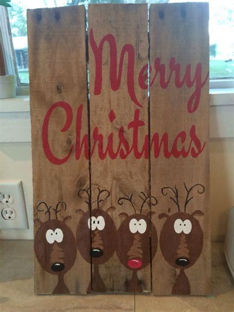 merry reindeer pallet sign outdoor