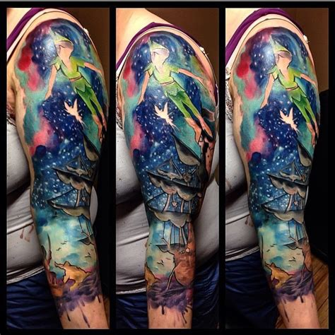 watercolor style tattoo sleeve watercolor style painted colorful half sleeve of