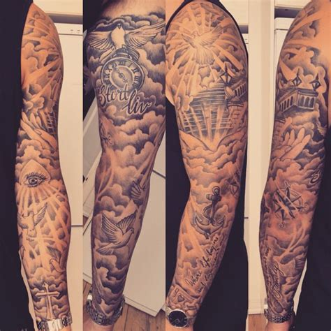 cloud tattoo quarter sleeve 14 best clouds foreman tattoo sleeves for guys images on