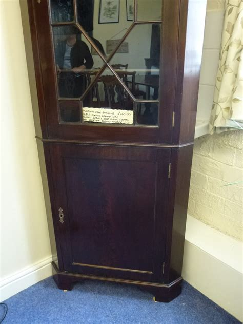 mahogany free standing corner cabinet antiques atlas