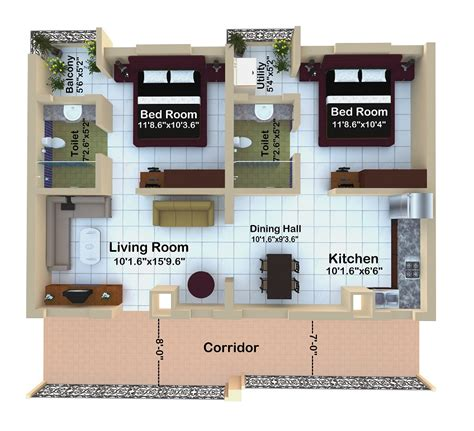 house design for 2bhk home photo style