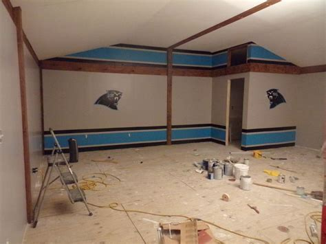 carolina panther game roomused painters tape