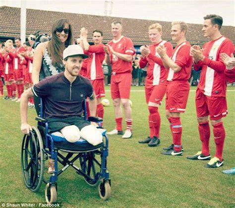 Wedding Aisle Crash by Footballer Injured In Crash Vows He Will Walk