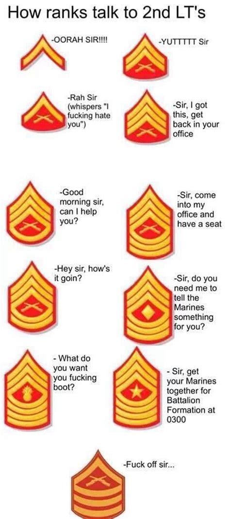 ranks in marine usmc humor quot how ranks talk to 2nd lt s quot d usmc