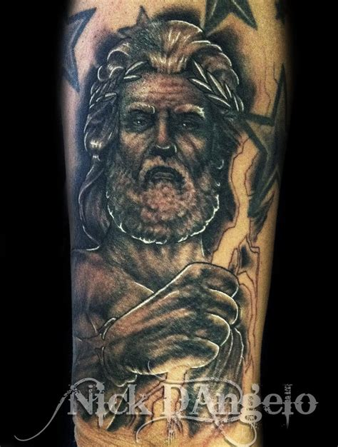 zeus tattoos zeus by nickdangelotattoos on deviantart