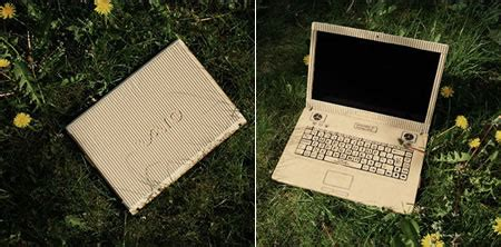 How To Make A Paper Laptop - sony vaio laptop cover from recycled cardboard paper