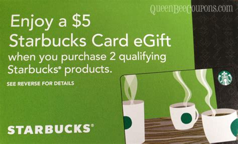 Costco Starbucks Gift Card - starbucks buy two participating items get 5 starbucks egift card