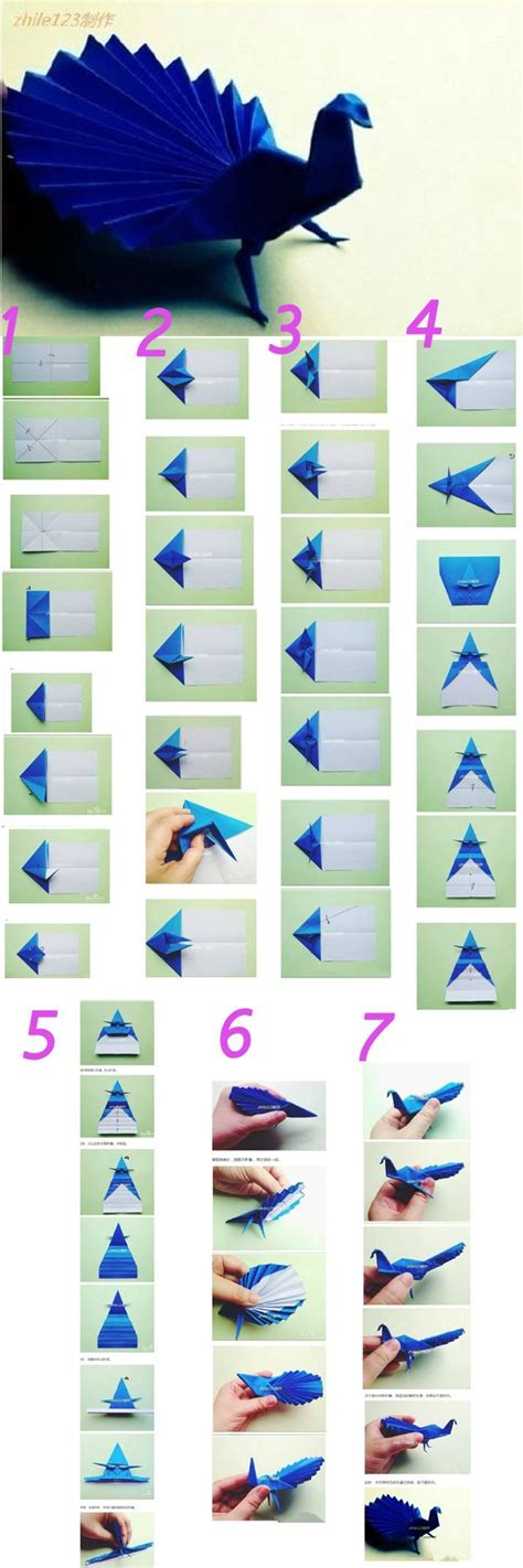How To Make An Origami Peacock Step By Step - 25 best ideas about origami on diy origami