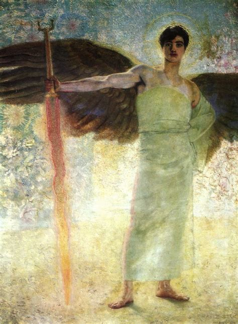 der stuck with the flaming sword 1889 franz stuck wikiart org