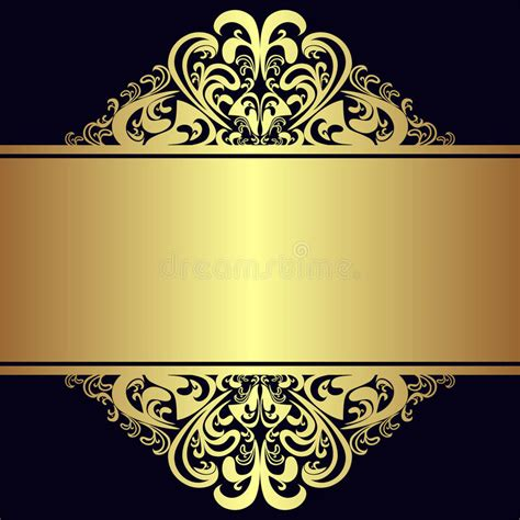 floral black orange gold background heart royalty free stock photos image 36536688 luxury background with royal golden borders and ribbon