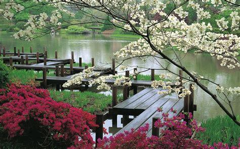 Japanischer Garten by Japanischer Garten Und See Hintergrundbilder Japanischer