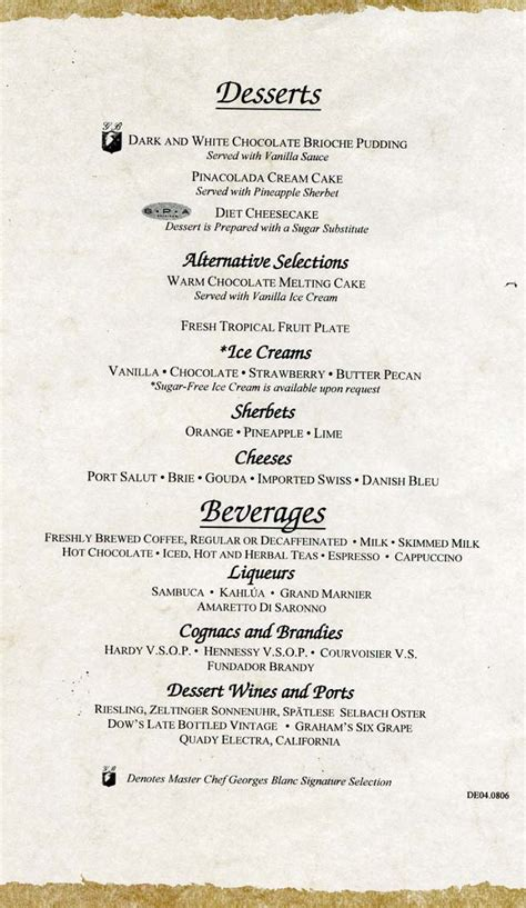 supper menus cruiseclues carnival cruise lines carnival valor dinner