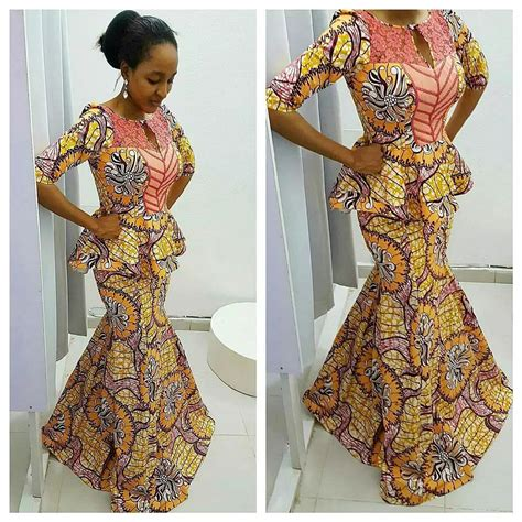 latest ankara peplon styles latest pictures of short and long ankara peplum dresses