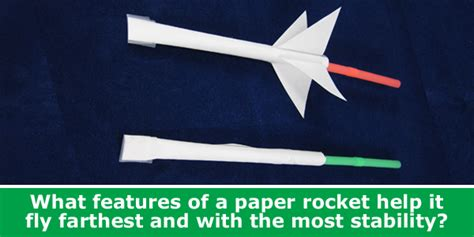 How To Make Rocket Out Of Paper - paper rocket aerodynamics