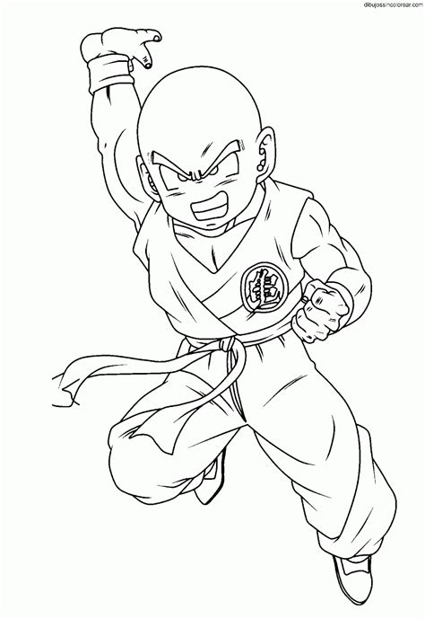 imagenes abstractas sin color dibujos de krilin dragonball para colorear