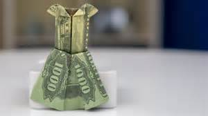 Money Origami Wedding Dress - money gift idea wedding dress dollar bill origami