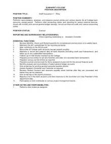 facebook resume template job description staff accountant i