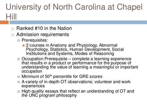 Unc Chapel Hill Mba Admission Requirements occupational therapy presentation 2