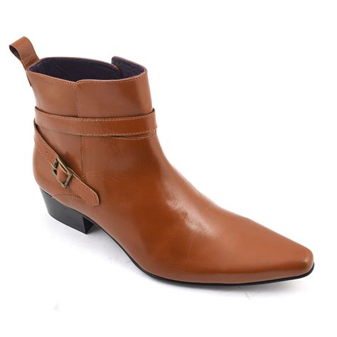 find buckle cuban heel boot gucinari