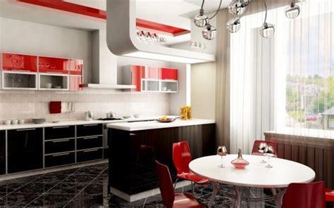 muebles de cocina negro  rojo casa web